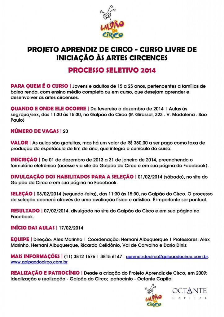PROCESSO SELETIVO 2014.cartaz e FBv2